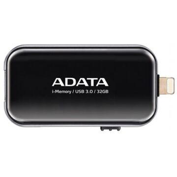 Adata I-Memory Ue710 32GB Pendrive USB 3.1 És Lightning Csatlakozóval, Apple iPhone És Ipad Készülékekhez - Fekete