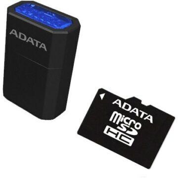 Adata Premier 16GB Micro SDHC Memóriakártya UHS-I U1 Class 10 + USB Micro Kártya Olvasó (AUSDH16GUICL10-RM)