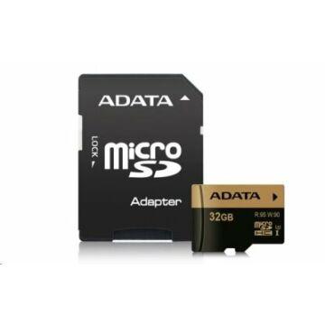 Adata SDHC Memóriakártya 32GB UHS-I U3 + Adapter (95/90Mb/S)
