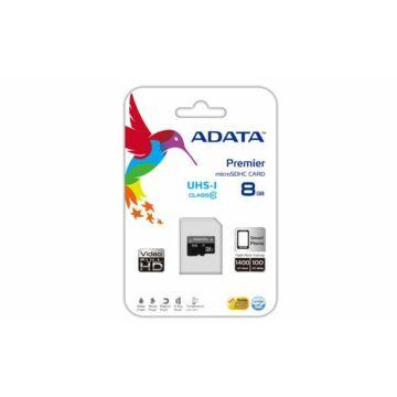 Adata Premier 8GB Micro SDHC Memóriakártya UHS-I Class 10