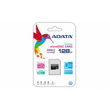 Adata Premier 128GB Micro SDXC Memóriakártya UHS-I Class 10 (AUSDX128GUICL10-R)