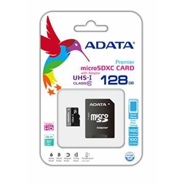 Adata Premier 128GB Micro SDXC Memóriakártya Class 10 + Adapter