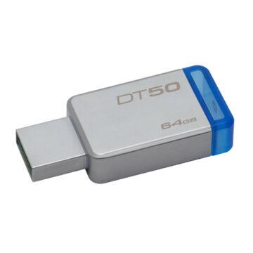 Kingston Dt50 64GB Pendrive USB 3.0 - Kék (DT50/64GB)
