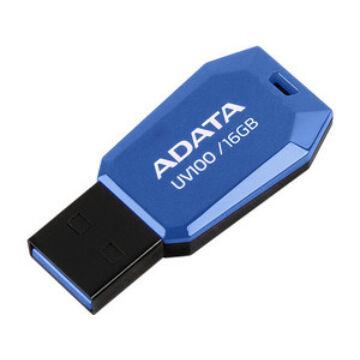 Adata UV100 Slim 16GB Pendrive USB 2.0 - Kék (AUV100-16G-RBL)