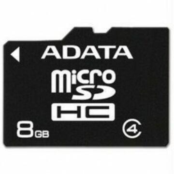 Adata 8GB Micro SDHC Memóriakártya Class 4 (AUSDH8GCL4-R)