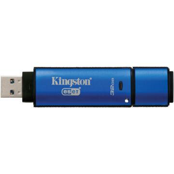 Kingston Dtvp30Av 32GB Pendrive - 256Bit Aes Titkosított + Eset Antivirus - USB 3.0