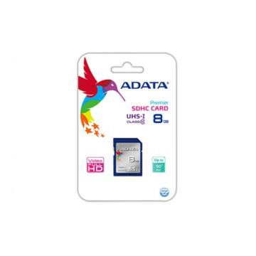 Adata Premier SDHC 8GB Memóriakártya UHS-I Class 10