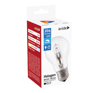 Avide Halogen Classic E27 18W