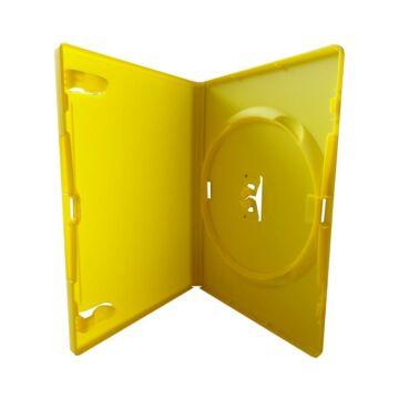 DVD Box Single 14 mm Sárga Amaray