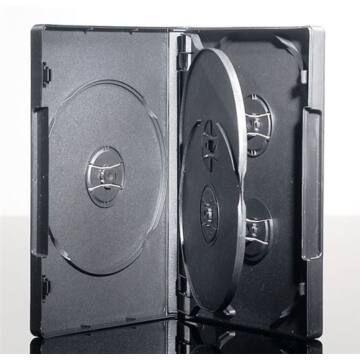 5 DVD Box 22 mm Black Colour