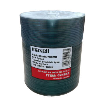 Maxell CD-R 52X Thermal Print Lemez - Shrink (100)