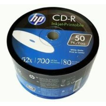 HP CD-R 52X 700Mb Nyomtatható Felületű Lemez - Shrink (50)