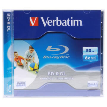 VERBATIM BD-R DL 6X 50 GB Wide Printable NO ID JWC 43736