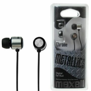 Maxell Earphone METALLICS Chrome