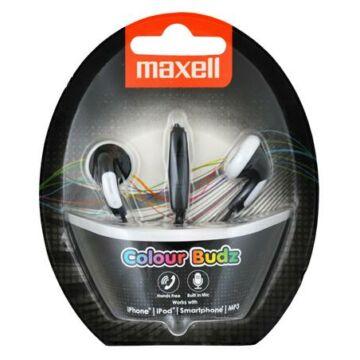 Maxell Colour Budz Színes Fülhallgató Fekete Mikrofonnal