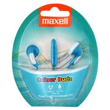Maxell Colour Budz Színes Fülhallgató Kék Mikrofonnal