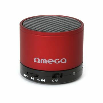 Omega Hangszoró Alu Bluetooth V3.0 Red [42646]