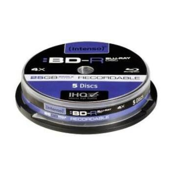 Intenso BD-R 25 gB Blu-Ray Lemez - Cake (5)