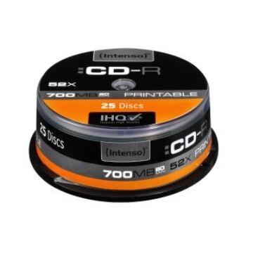Intenso CD-R 700Mb Nyomtatható Lemez - Cake (25)