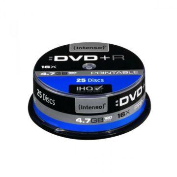 Intenso DVD+R 4,7GB Teljes Felületén Nyomtatható Lemez - Cake (25)