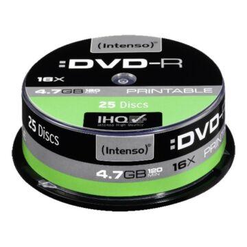 Intenso DVD-R 4,7GB Teljes Felületén Nyomtatható Lemez - Cake (25)