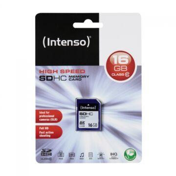Intenso 16GB SDHC Memóriakártya Class 10