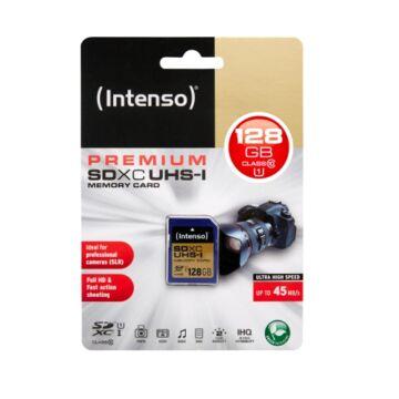 Intenso 128GB SDXC Memóriakártya UHS-I Premium Class 10