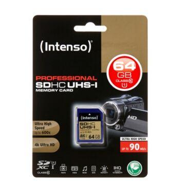 Intenso Professional 64GB SDXC Memóriakártya UHS-I Class 10