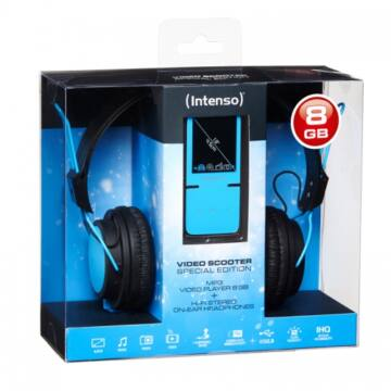 Intenso Video Scooter 8GB+ Headphone Blue