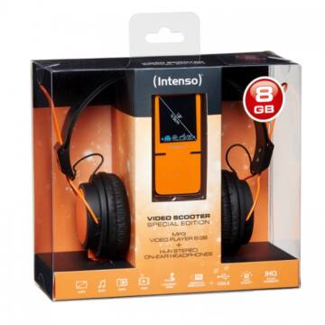 Intenso Video Scooter 8GB+ Headphone Orange