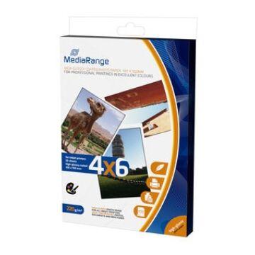 Mediarange MRINK104- Papír 4X6 Ph. H.Glossy 220 g 50Db