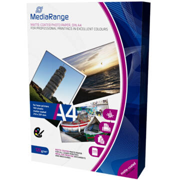 Mediarange MRINK102- Papír A4 Ink Dual-S 200 g,50Db