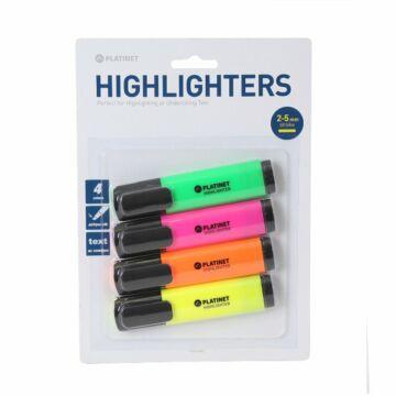 PLATINET HIGHLIGHTERS sárga / narancs / rózsaszín / zöld