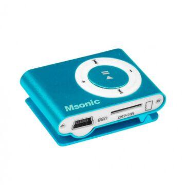 Msonic Mp3 Lejátszó - Kék (Belső Memória Nélkül)
