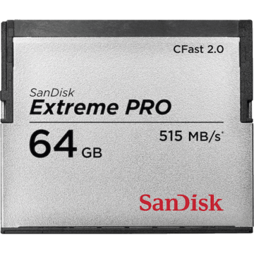 SanDisk Extreme Pro Cfast 2.0, 64GB (515 Mb/S)