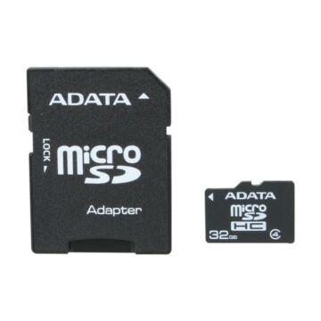 Adata 32GB Micro SDHC Memóriakártya Class 4 + Adapter