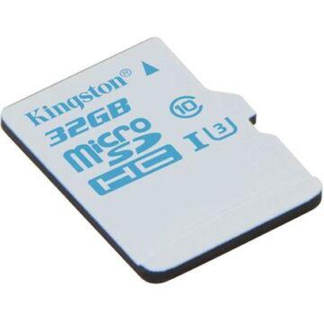Kingston 32GB Micro SDHC Action Card Memóriakártya UHS-I Class U3 (90/45 Mb/S)