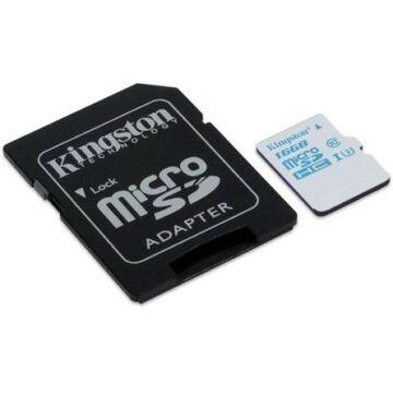 Kingston 16GB Micro SDHC Action Card Memóriakártya UHS-I Class U3 (90/45 Mb/S) + Adapter