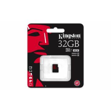 Kingston 32GB Micro SDHC Memóriakártya UHS-I Class U3 (90/80 Mb/S)