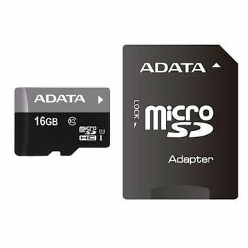 Adata Premier 16GB Micro SDHC Memóriakártya Class 10 + Adapter