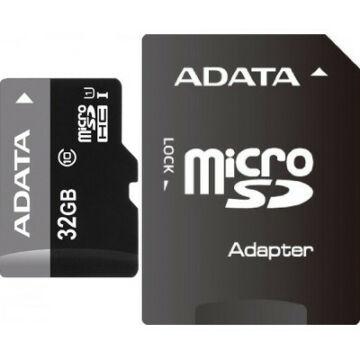 Adata 32GB Micro SDHC Premier Memóriakártya Class 10 + Adapter (AUSDH32GUICL10-RA1)