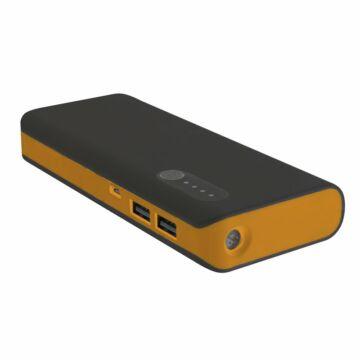 Platinet Power Bank 13000mAh + Micro USB Cable + Torch Black/Orange [42898]