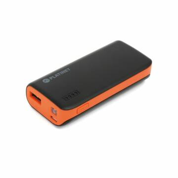 Platinet Power Bank 4400mAh + Micro USB Cable + Torch Black/Orange [42915]