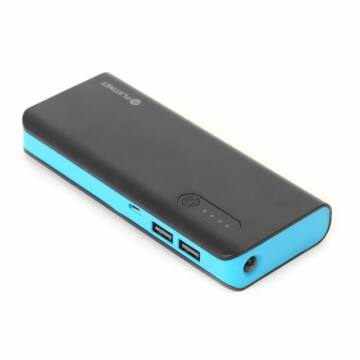 PLATINET POWER BANK 8000mAh + microUSB cable + torch BLACK/BLUE [42417]