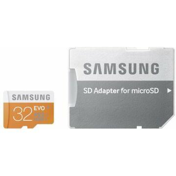 Samsung 32GB Micro SDHC Memóriakártya UHS-I Evo Class 10 + Adapter