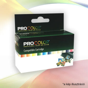 Procolor Canon Pc-521C Chip Cián Utángyártott Tintapatron