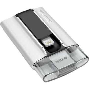 SanDisk iXpand 128GB Pendrive USB 2.0 És Lightning Csatlakozóval, Apple iPhone És Ipad Készülékekhez