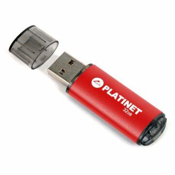 Platinet X-Depo 32GB Pendrive USB 2.0 - Piros