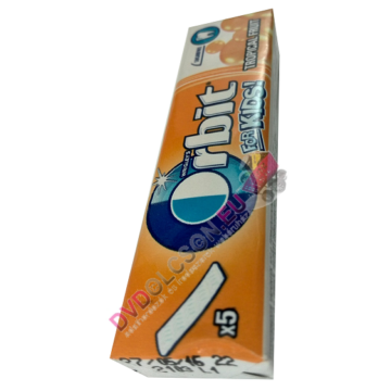 Orbit Kids 5X Tropical Fruit Ízű Rágógumi Lap