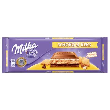 Milka Choco Biscuit Alpesi Tejcsokoládé 300 g